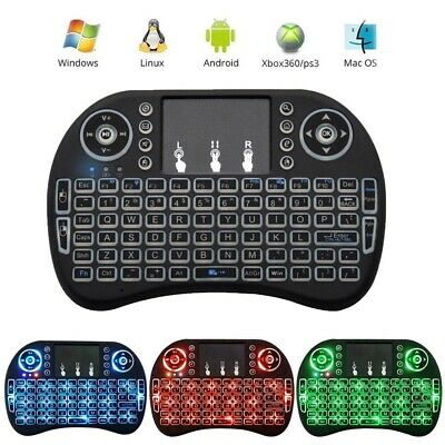 Wireless Keyboard Rii i8 Air Mouse Keypad Remote Control Android TV Box Backlit