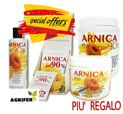 Officinalis ARNICA 90% Gel - 10 / 250 / 500 / 1000 ml - Distorsioni muscolari .