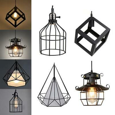Geometric Metal Lamp Guard Ceiling Light Lamp Shade Chandelier Iron Cage Decor
