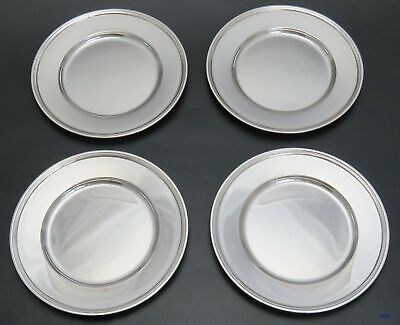1907-1947 Antique/Vintage (4) Tiffany & Co. Sterling Silver Bread/Butter Plates