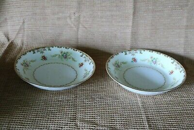 "Aladdin Fine China - REGAL - Occupied Japan - 7 3/4"" Coupe Soup Bowls (2)"