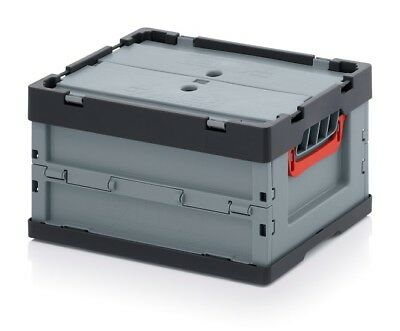 Professional Lid Box 40x30x22 with Transport Stacking Crates Folding