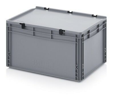 Transport Containers 60x40x33, 5 with Lid Plastic Transport Case Box 600x400x335
