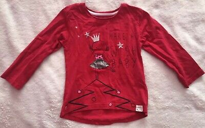 Gorgeous Baby Girls River Island Red Printed Christmas Top 12-18 Months