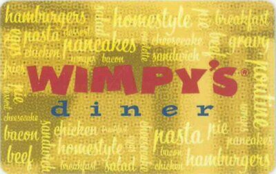 Gift Cards: Wimpy's Diner - Restaurant (Canada) Logo over word collage, $0