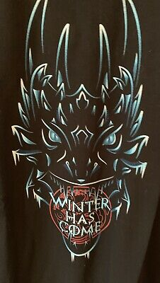 HBO Game Of Thrones XL T Shirt Winter Is Here With 3D Weirwood Tree Card NEW