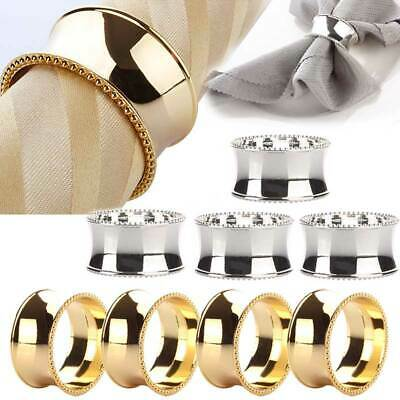 4pcs Stainless Steel Napkin Rings for Dinners Parties Weddings Hotel Supplies