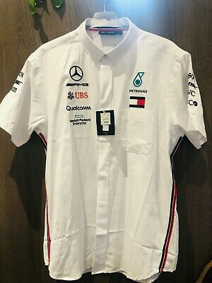 F1 Petronas Mercedes Ladies Tommy Hilfiger Team Shirt Size L 2019 new with tags