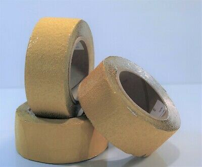 "Bulk Outdoor Pavement Marking Tape - lot of 3 yellow 2"" rolls LOT4"