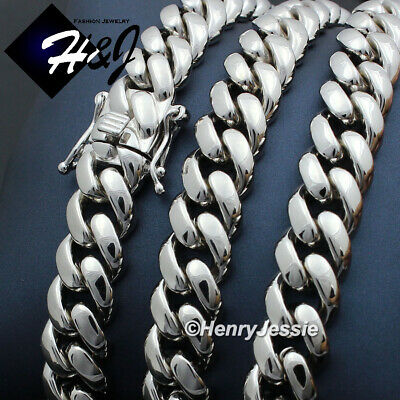 """30/""""925 STERLING SILVER GOLD MIAMI CUBAN LINK CHAIN NECKLACE 4mm 31g K"""