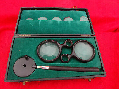 altes antikes Liebreichs Ophthalmoscope Hauptner Augenspiegel