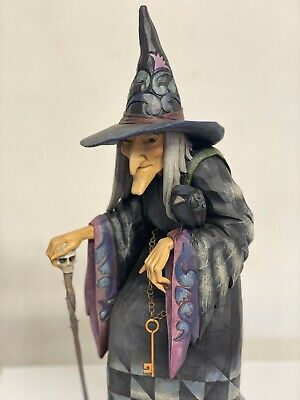 """JIM SHORE NEW - Statue Old Witch with Cane Rare Retired 2009 Halloween 24"""" tall"""