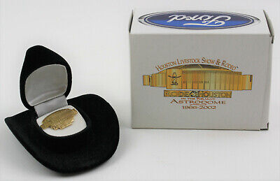 Houston Livestock Show & Rodeo Pin Astrodome 1966-2002 Miniature Cowboy Hat