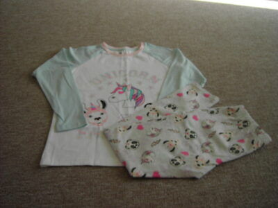 Marks and Spencer Unicorns Pyjamas Set Girls Age 10-11 years