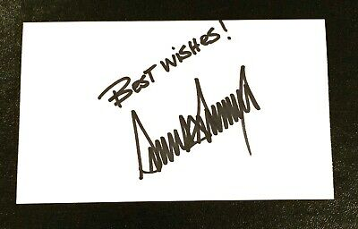 Donald Trump United States President Vintage Signed Autograph 3x5 Index Card