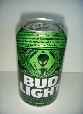 One Empty Bud Light Earth Can Alien Storm Area 51 Emptied From Bottom