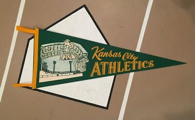 1950's Kansas City Athletics Pennant Oakland Philadelphia A's MLB