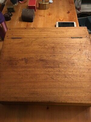 Vintage Antique Wooden Writing Slope desk box