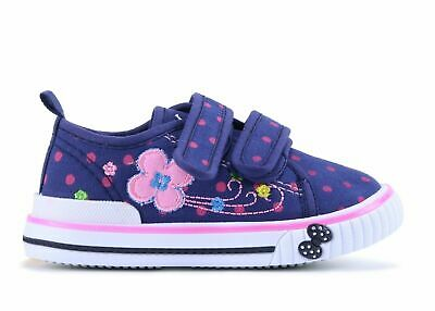 Girls canvas shoes trainers 3.5UK Summer Plimsols BABY GIRL Toddler new