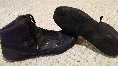 ASICS JB Elite V2.0 Wrestling Shoes J501N Black Onyx Mens Sz12 Jordan Burroughs