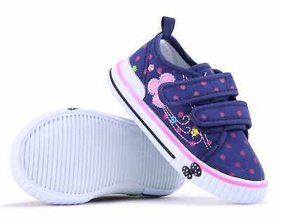 Girls canvas shoes trainers 4 UK Summer Plimsols BABY GIRL Toddler NEW.