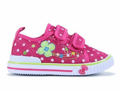 Girls canvas shoes trainers 7UK Summer Plimsols BABY GIRL Toddler NEW.