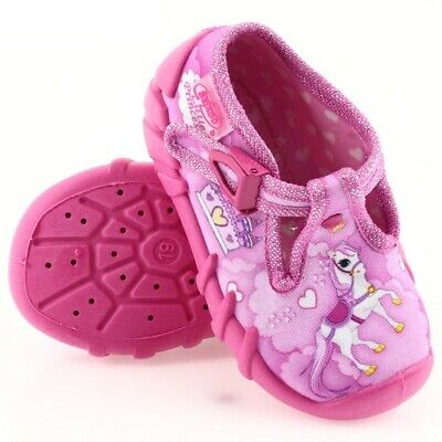 BABY BEFADO girls canvas shoes nursery slippers sandals pumps size 4.5UK