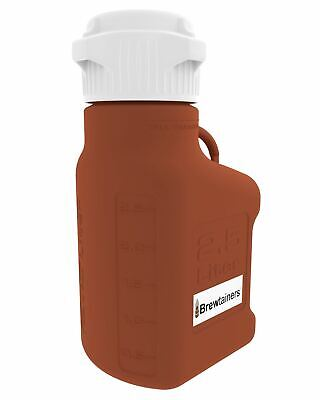 Brewtainers HDPE Amber Light Blocking 2.5L (.86 Gal Max) Homebrew Yeast Containe