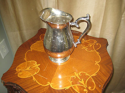 Vintage Silver Plate Water Pitcher With Handle And Pour Lip -  #4