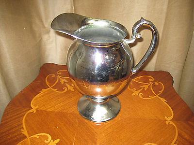 Vintage Water Pitcher With Handle- Chromium Lb Plated #1
