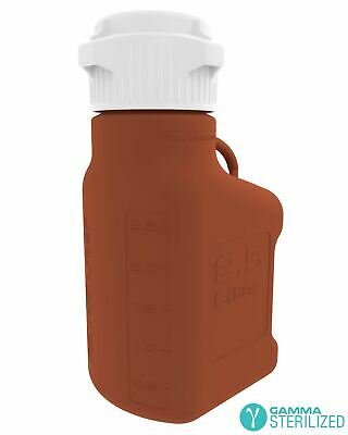 EZBio® 2.5L (0.5 GAL) Amber HDPE Carboy with VersaCap® 83mm, Double Bagged, Gamm