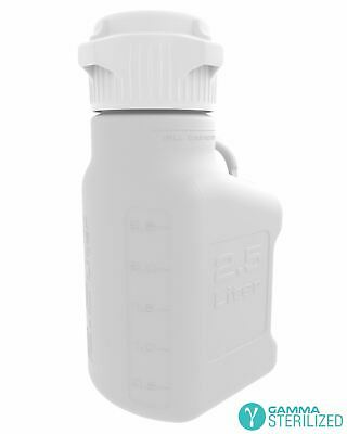 EZBio® 2.5L (0.5 GAL) HDPE Carboy with VersaCap® 83mm, Double Bagged, Gamma Ster
