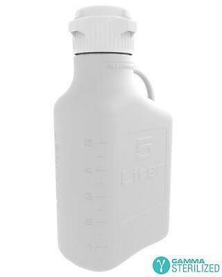 EZBio® 5L (1 GAL) PP Carboy with VersaCap® 83mm, Double Bagged, Gamma Sterilized
