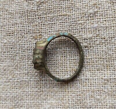 Medieval ring 14th-15th centuries. Metal detector finds 100% original