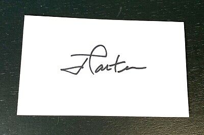 Jimmy Carter United States President Signed Autograph 3x5 Index Card