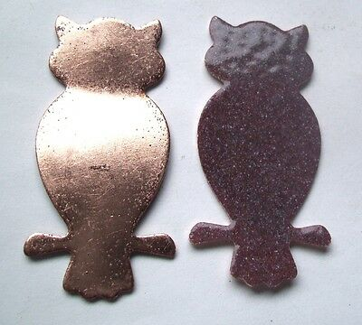 10X Copper Blanks for enameling use-  OWL  shape