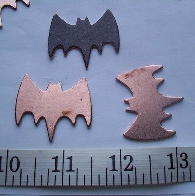10X Copper Blanks for enameling use-  BAT  shape-ANIMAL