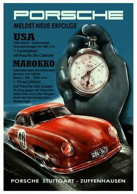 Porsche *POSTER*  356 race car GERMANY 550 Spyder  911 - AMAZING ART PRINT