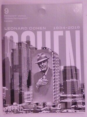 Canada Post 2019 Leonard Cohen Booklet of 9 Permanent Stamps MNH