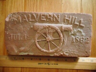 Vintage July 1st 1862 Battle MALVERN HILL VA Civil War Cannon BRICK Reclaimed