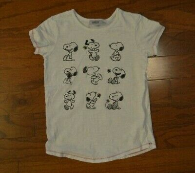 NWT Hanna Andersson Peanuts Snoopy T Shirt Top Football Cheer Size 150