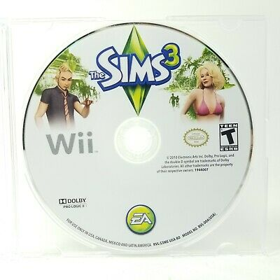 The Sims 3 (Nintendo Wii, 2010) GAME DISC ONLY Free Jewel Case is Included