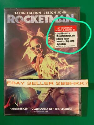ROCKETMAN DVD 2019 **AUTHENTIC READ LISTING** New Free Ship (ELTON JOHN BIOPIC)