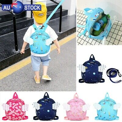 Kid Toddler Safety Harness Backpack Anti-lost Leash with Reins Strap Bag