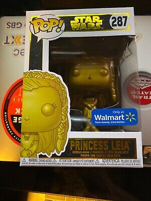 Funko Pop! Star Wars Princess Leia Gold Walmart Exclusive Brand New 287 - 1