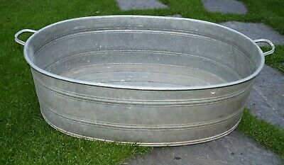Old Washtub with Drain - Oval - Planter. (255-19)