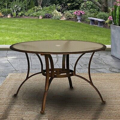 Black Tempered Glass Table Top Ta101, 42 Patio Table