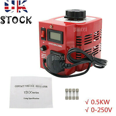 APS-500W 0.5KW 220V Variac Variable Transformer Voltage Regulator Powerstat UK