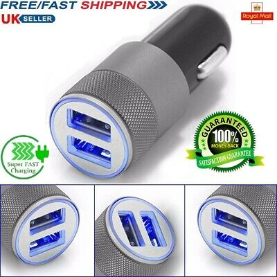 2.1A Dual USB Car Charger Adapter 2 Port LCD Display 12-24V Cigarette Socket UK