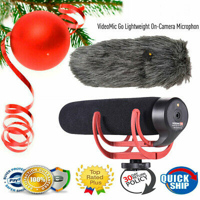 RODE VideoMic GO Cardioid Directional Microphone Camera Mic for Canon Nikon Sony